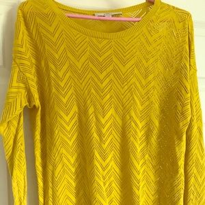 Long sleeve yellow/green top